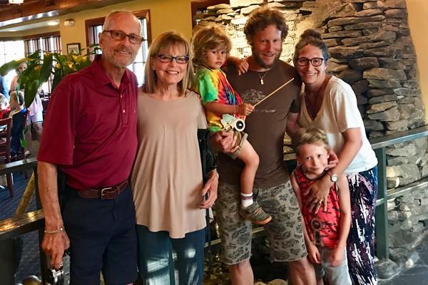 Sandler Family: Jenny, Matt, Leo, Micah