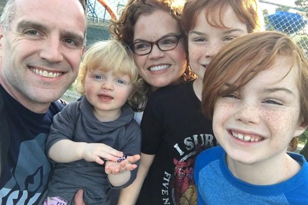 Andrew Vara and family