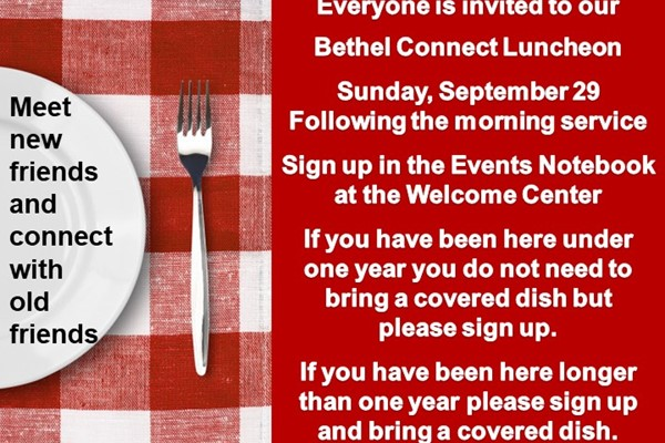 Family Sunday and Connect Luncheon